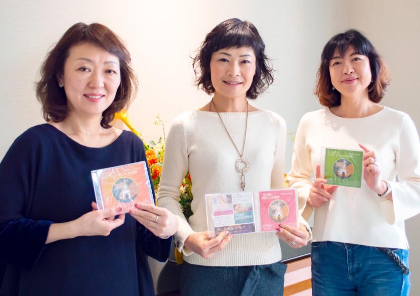 代表の志麻絹依さん(中央)と、神さん(右)、島谷さん(左)。